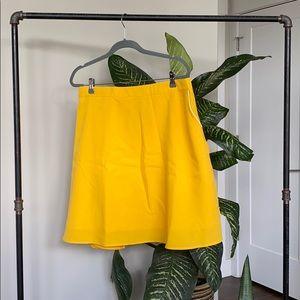 Tuesday Bassen Yellow Skirt w/ Side Zip